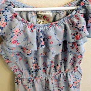 ec32c4372035 Jenna   Jessie Bottoms - Jenna   Jessie🔥 Off Shoulder Ruffle Floral Romper